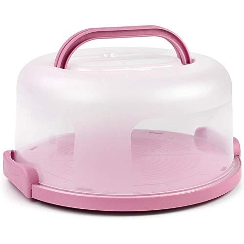 OVBBESS Soporte para tartas con asa para tartas color rosa