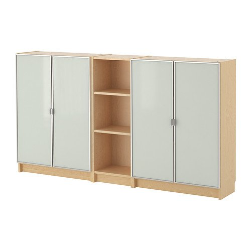 Ikea Billy/Morliden Bücherregal, Birkenfurnier, 200 x 106 x 28 cm