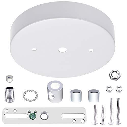 ECUDIS 5 1/8 Ceiling Lighting Modern Steel Canopy Kit with Hardware, White