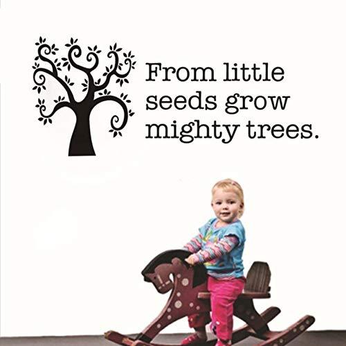 Aus kleinen Samen wachsen starke Bäume inspirierende Wandtattoos Diy Vinyl Aufkleber für Kinderzimmer Wohnaccessoires 100x42cm