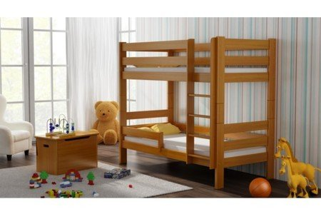 WNM Group Etagenbett Sophie, mit Zwei, Kiefer Holz Bett 160x 80, Holz, Erle, 160x80