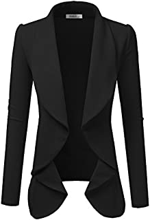 NINEXIS Womens Classic Draped Open Front Blazer