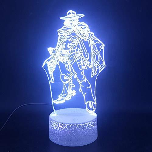 Mehrere Farben Spiel Superheld 3D Lichter LED Weihnachtsornamente Nachtlicht Kinderzimmer Ornamente Ornamente Ornamente 3D Lichter leuchten