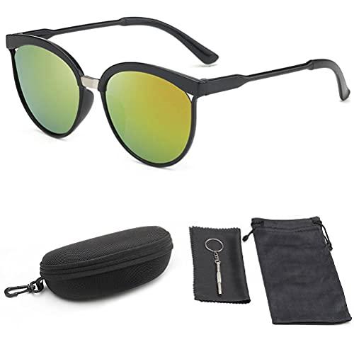 Rlevolexy 5 Unids/Set Gafas de Sol Protección UV400 Gafas de Sol Clásicas para Deportes al Aire Libre Golf Ciclismo Pesca Senderismo Gafas Gafas de Sol