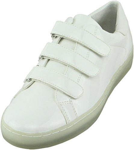 Michael Michael Kors Women's Craig Sneaker Optic White Patent/Nappa Sneaker 10 M