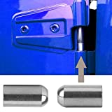 Door Pin Guides Compatible with Wrangler, Stainless Steel Door Hinge Pin Bolts Guides for 1997 to 2021 Wrangler JK JKU JL JLU TJ 2 Pcs