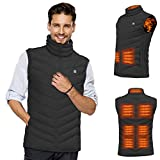 PRUGNA Heated Vest for Men, 9 Heating Pads Warm Heating Vest with Smart Power Management System, Machine Washable