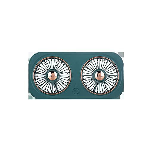 JUBANGLIAN Ventilador personal USB portátil, mini ventilador plegable de doble hoja con batería incorporada de 2000 mAh 360 ° Ajustar ventilador retro para el hogar al aire libre (verde)