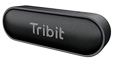Bluetooth Speaker, Tribit XSound Go 12W Portable Speakers Loud Stereo Sound, IPX7 Waterproof, Rich Bass, 24 Hour Playtime, 20M Bluetooth Range Outdoor Party Wireless Speaker-The Telegraph's Choice by Tribit