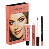 Style Essentials Women's Cosmetics KISS OF NUDE Perfect Pout Kit - Set of 3- Lipstick, Lip Gloss, Lip Liner Set