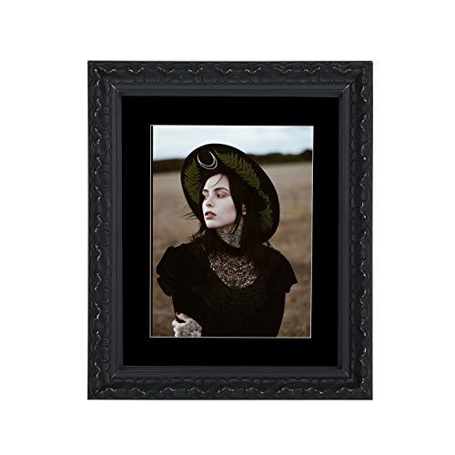 Tailored Frames – Vienna Serie, Vintage Shabby Chic foto en fotolijst in zwart met zwarte passe-partout lijst 61 x 50,8 cm voor 50 x 40 cm