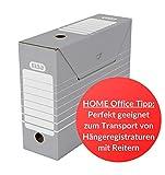 ELBA 100333274 Archivbox tric 10 cm breit 10 Stück für Hängeregistratur mit Reiter in der Farbe grau