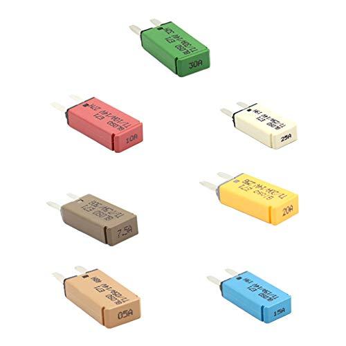 Homyl 7X Disjoncteur Fusible ATM Mini Circuit Breaker Manuel Type III 5A/7.5A/10A/15A/20A/25A/30A