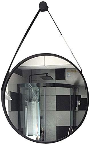 Weerbestendig artikel voor thuis en wandspiegel, klein, hangend, metalen frame, deurspiegel met ketting, badkamerspiegel voor het ophangen van de woonkamer (maat