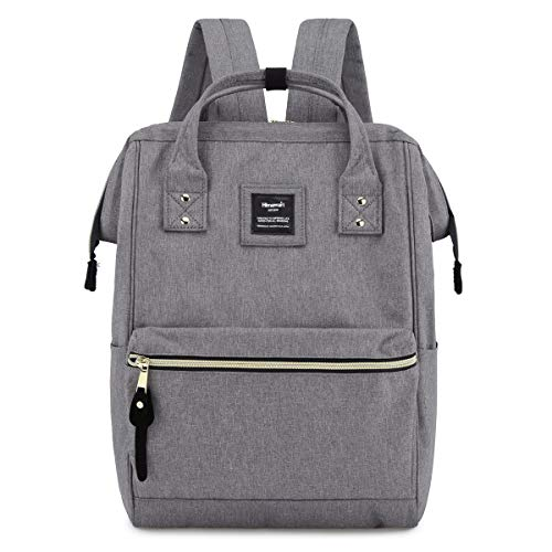 Himawari Travel School Backpack with USB Charging Port 15.6 Inch Doctor Teacher Bag for Women&Men College Students(USB Gray)
