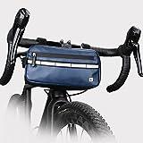 PIGMANA N/P Fahrradlenker-Tasche, reflektierende wasserdichte Frontrahmen-Fahrradkorb-Aufbewahrungstasche Großraum-Vordertasche für Rennrad, MTB-Mountainbike Fitting