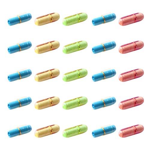 STOBOK 99Pcs Nachricht in Einer Flasche Klare Pille Nachricht Flasche Mini Kapsel Liebe Freundschaft Wunschflasche mit Papierrolle für DIY Wunsch Geschenk Party Bevorzugen Gemischte