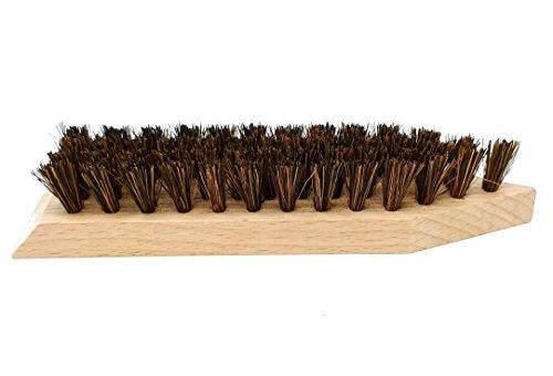 DELARA Große Schmutzbürste aus Holz mit kräftigen Kokosfasern zum Entfernen von grobem Schmutz von Schuhen, Gummistiefeln, Wanderstiefeln usw. - Made in Germany