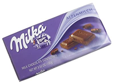 Milka Alpine Milk Chocolate, 3.5-Ounce Bars (Pack of 10)