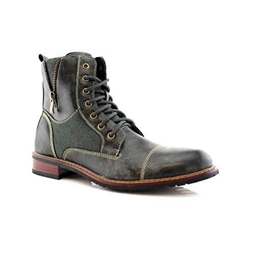 Ferro Aldo Andy MFA808561 Men's Combat Boots for Work or Casual Wear Grey 7.5