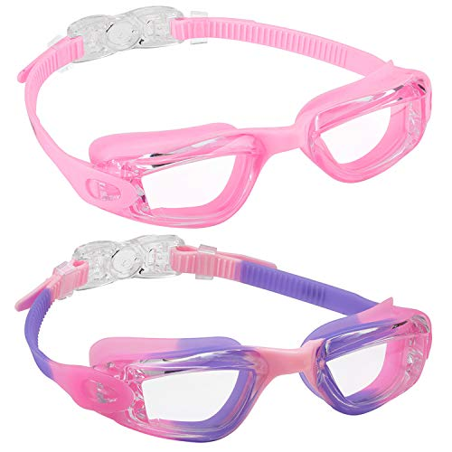 Aegend Kids Swim Goggles, Pack of 2 Swimming Goggles for Children Boys & Girls Age 3-9