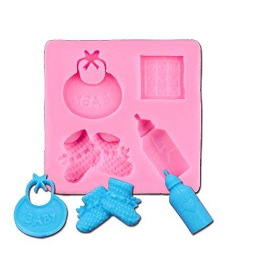 Beiersi Baby Schnuller Silikon Form für Fondant Marzipan Tortendeko Ausstecher Seife Dekoration Werkzeug (Stil 4)