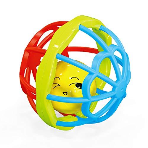 Pelota para atrapar la mano del bebé 0-3 años Puzzle Baby Soft Rubber Fitness Ball Baby Handbell Apaciguar el juguete del sonajero del gel de los dientes - Multicolor