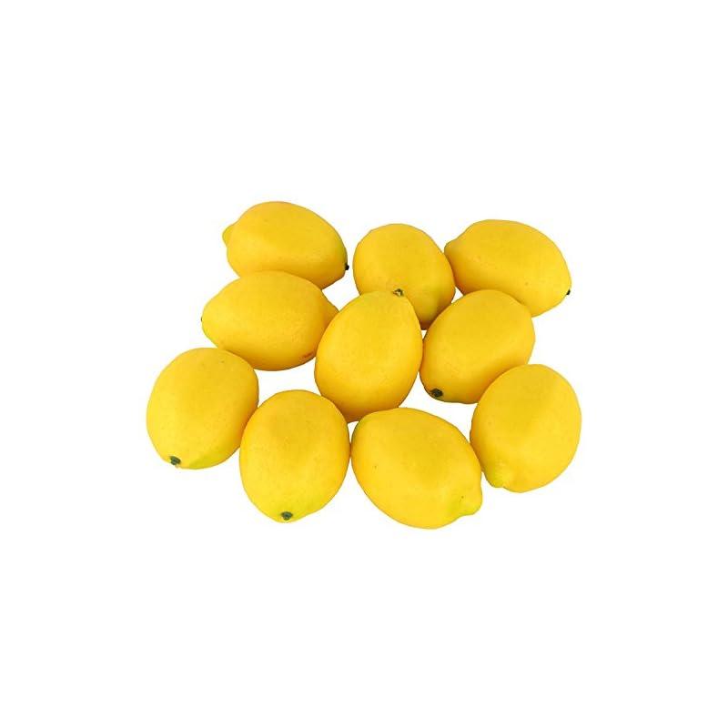 silk flower arrangements jedfore fake fruit home house kitchen party decoration artificial lifelike simulation yellow lemon 10pcs set