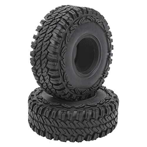 JYLSYMJa 1 par de neumáticos de Coche RC, 1,9 Pulgadas, Negro, neumático de Goma Antideslizante, Accesorios de neumáticos de Rueda de Repuesto RC para SCX10 90046 90047 1/10 RC Crawler OD 115 mm