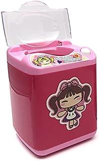 MYLOVE Electronic Mini Washing Machine Shape Automatic Doll Accessories Dollhouse Powder Laundry Toy Furniture Miniatures ...