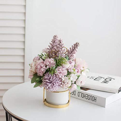 Spetich Adornos de Flores Artificiales nórdicas Flores Falsas Sala de Estar decoración de la Mesa de Centro Flor Mesa de Comedor Ramo