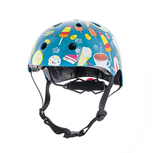 Hornit Mini Lids Casque Multi Sports Enfant avec éclairage arrière LED | Certifié CPSC pour Velos, Skateboard et Rollers| Entièrement réglable pour Le Confort et la sécurité (Medium, Ice Cream)