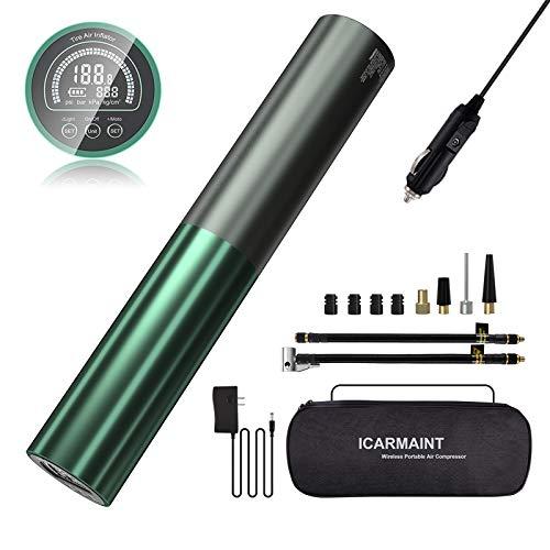 ICARMAINT Mini Compresor de Aire Portátil 120PSI Bomba de Aire Eléctrica Bicicleta...