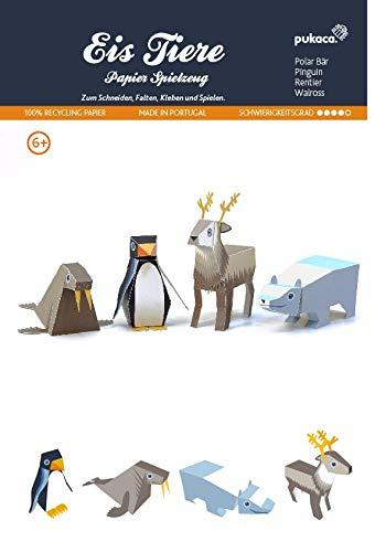 Forum Traiani Bastelbogen Polar Tiere Groß - 4 STK., Pukcaka DIY Bastelbögen Papier-Karton für Kindergeburtstag als Geschenkidee, Bastelidee für Jungs und Mädchen