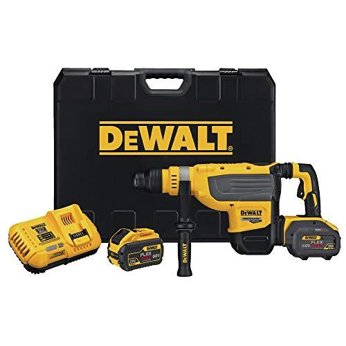 Dewalt DCH733X2 FlexVolt 60V MAX Lithium-Ion SDS-MAX 1-7/8 in. Cordless Rotary Hammer Kit with 2 Batteries (9 Ah)