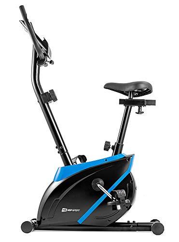 Hop-Sport VÉLO D'APPARTEMENT HS-2070 Onyx Fitness Max 120 KG résistance réglable (Bleu)