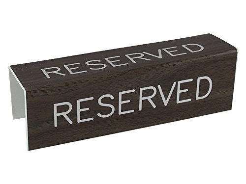 3 Sided Pew Reserved Sign