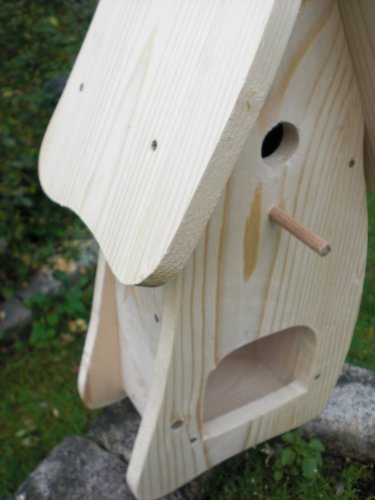 Dekorativer Nistkasten(NB1)-mit Vogelfutterhaus zum selbst bauen-Bausatz-Vogelhaus-Vogelhäuschen-Vogelhaus Garten Deko - 4