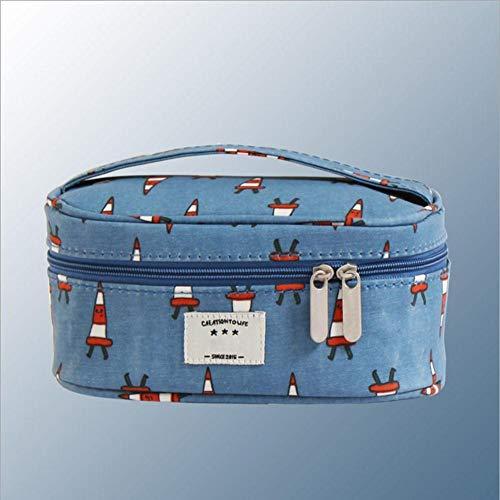 Sxuefang kosmetiktasche,Voyage Multifonctionnel Toile enduite Sac cosmétique Toile 10 * 8 * 16 cm