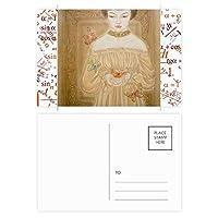 ブラックフォックスかわいい動物の描写 公式ポストカードセットサンクスカード郵送側20個