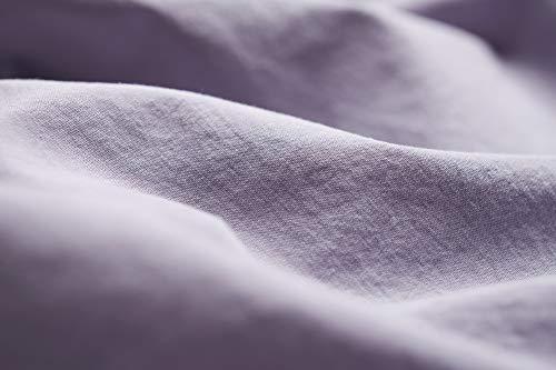 L1NK STUDIO Funda nordica Cama 135 cm Lisa (220x220cm) 100% algodón (Percal 200 Hilos) Lavanda