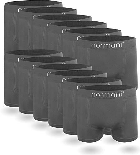 normani 6 oder 12 Mikrofaser-Unterhosen für Herren | atmungsaktive Sport-Funktions-Unterwäsche | Boxershorts | Retroshorts für Männer (Gr. S-3XL) Farbe 12 x Grau Größe XXL/3XL