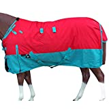 HILASON 78 in 1200D Poly Waterproof Turnout Winter Horse Blanket Red