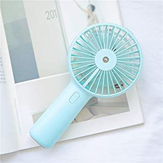 Nobranded Ventilador De Pulverización De Mano, Carga USB, Enfriamiento, Mini Ventilador De Escritorio Portátil De Viento Frío Al Aire Libre Azul