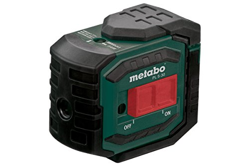Metabo 606164000 Punktlaser PL 5-30 | +Zielplatte, Gürteltasche, Wandhalterung, 3 Batterien AA 1,5 V (LR6) | Funkt.: Punktfunktion / Rechter Winkel (90°) / Lotfunktion (Klasse 2 / Anzahl Punkte 5)
