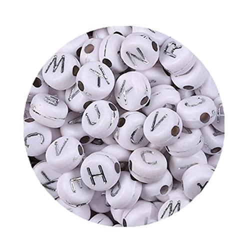 WanXingY 200 Piezas de Cuentas acrílicas alfabéticas Rusa RUY Redondo NÚMERO Plano Cubo Cubiertas APLICADAS PERSONALES para JOYERÍA PRODUCTAR Hecho DIY DIY Pulsera Creativa Collar (Color : 16)