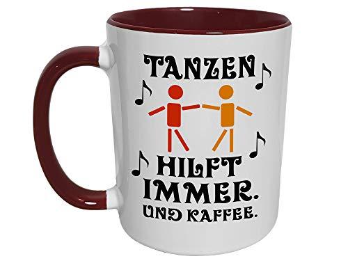 Tanzen Geschenk Tasse, Tänzer Tänzerin Kaffeetrinker Tanzschule Tanzpartner Musik Geschenke