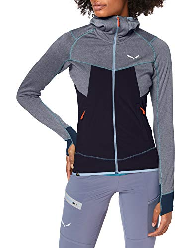 Salewa 00-0000027389_3988 Hoodies Femme Premium Navy Mel. FR: S (Taille Fabricant: 42/36)