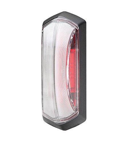 HELLA 2XS 205 020-001 LED-Umrissleuchte, rot / glasklare Lichtscheibe, 12 V, Direktverschraubung, AMP SS schwarz, schwarzer Rahmen für Direktverschraubung