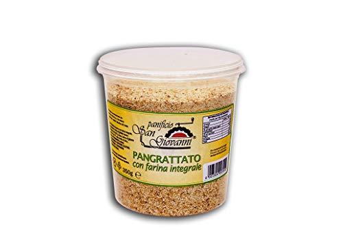 Pan de pan tostado completo y plastificado en tarro de 350 g de pan de tipo integral (65 %). Producto fabricado en Italia.